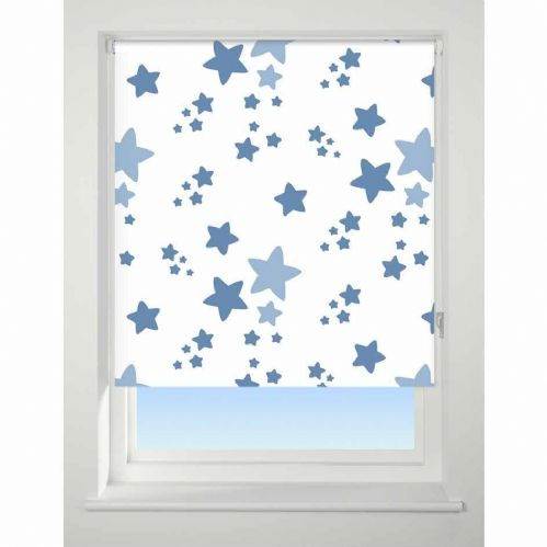 Universal Patterned Blackout Roller Blind - Twinkle Twinkle Blue